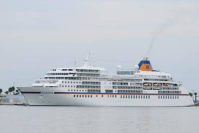 Photograph - Ms Europa At Port Canaveral by Bradford Martin