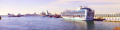 Ms Island Princess Cruise Ship Art Print by Panoramic Images