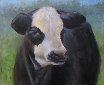 Cow Face Painting - Ms Jasmin by Cheri Wollenberg