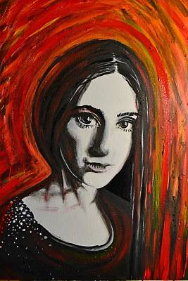 Painting - Portrait In Black #x by Sandro Ramani