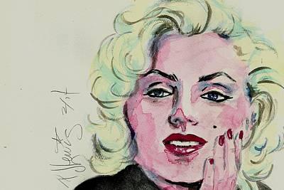 Portrait Of Marilyn Monroe Painting - Ms Monroe by P J Lewis