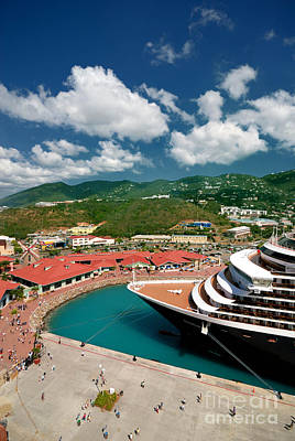 Docked Photograph - Ms Noordam St Thomas Virgin Islands by Amy Cicconi