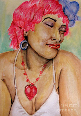 Ms Pink Art Print