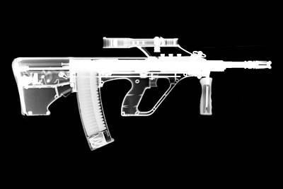 Msar Stg-556 Reversed Art Print by Ray Gunz