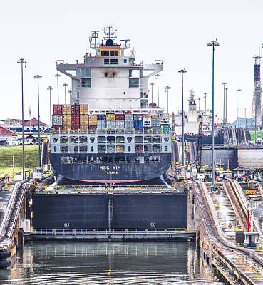 Photograph - Msc Kim Panama Canal II by Rene Triay Photography