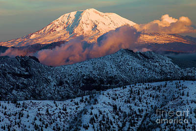 Photograph - Mt Adams Sunset by Adam Jewell