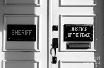 Andy Griffith Show Photograph - Justice Of The Peace by Michael Eingle