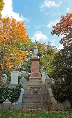 Photograph - Mt Auburn Cemetery 1 by Michael Saunders