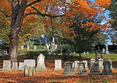 Photograph - Mt Auburn Cemetery 12 by Michael Saunders