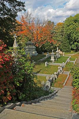 Photograph - Mt Auburn Cemetery 14 by Michael Saunders