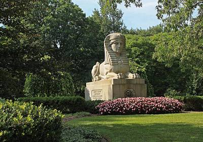Photograph - Mt Auburn Cemetery Sphinx by Michael Saunders