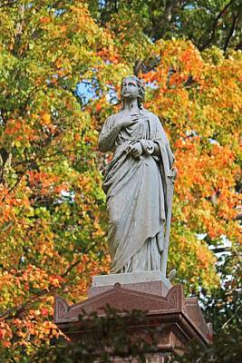 Photograph - Mt Auburn Cemetery 4 by Michael Saunders