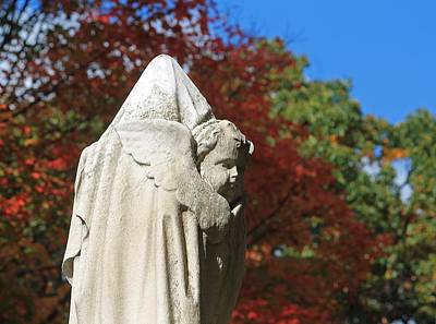 Photograph - Mt Auburn Cemetery 8 by Michael Saunders
