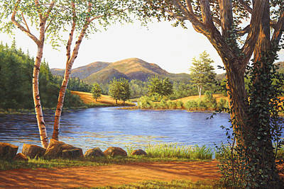 Maine Landscapes Painting - Mt. Bernard In Acadia National Park, Me by Elaine Farmer