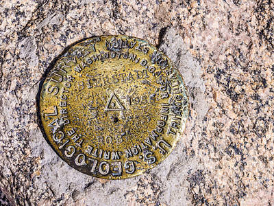 Photograph - Mt. Bierstadt Survey Marker by Aaron Spong