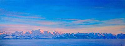 Mt Blanc Sunset Original