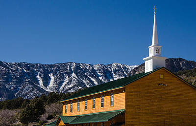Photograph - Mt. Charleston Baptist Church by Mark Bowmer