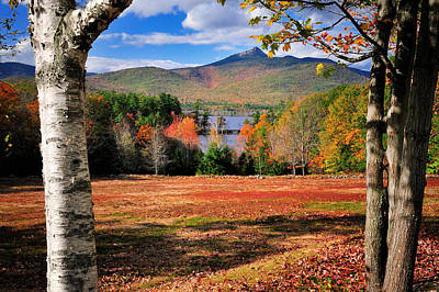 New England Fall Photograph - Mt Chocorua - A New Hampshire Scenic by Expressive Landscapes Fine Art Photography by Thom