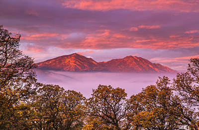 Mt Diablo In The Early Morning Light Art Print by Marc Crumpler