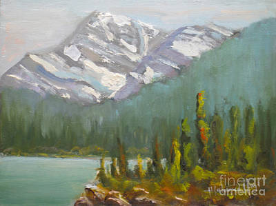 Mohamed Painting - Mt. Edith Cavell by Mohamed Hirji