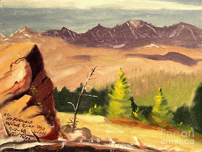 Painting - Mt. Fremont Wind River Wyo. by Art By Tolpo Collection