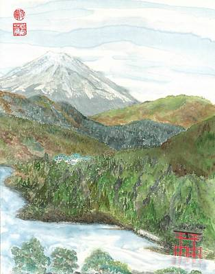 Painting - Mt. Fuji And Lake Ashi by Terri Harris