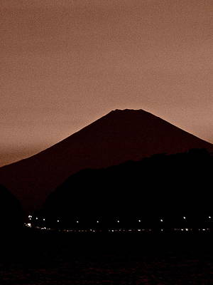 Photograph - Mt Fuji At Dusk - 1 by Larry Knipfing