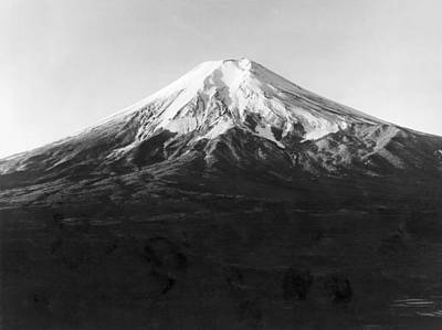Fuji Mountain Photograph - Mt. Fuji In Japan by Underwood Archives
