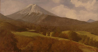 Art Print featuring the painting Mt. Fuji by Rick Fitzsimons