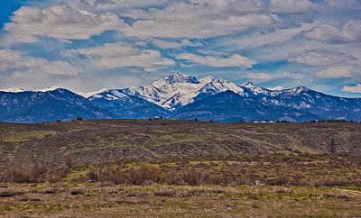 Photograph - Mt Gardner In The Springtime by Omaste Witkowski