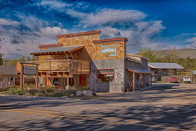 Pacific Crest Trail Painting - Mt Gardner Inn And Fly Shop by Omaste Witkowski