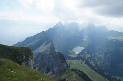 Mt. Hoher Kasten - Switzerland Art Print by Nikki  Wang