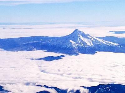 Mt Hood Digital Art - Mt. Hood Above The Clouds by Nick Gustafson