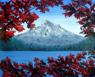 Mixed Media - Mt Hood Autumn by Kenny Henson