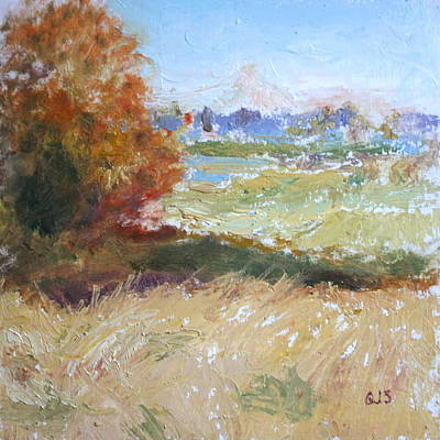Painting - Mountain From Wildlife Refuge - Original Impressionist Painting by Quin Sweetman