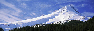 Mt Hood Photograph - Mt Hood In Winter, Oregon, Usa by Panoramic Images