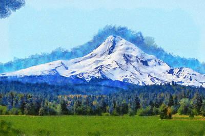 Mt Hood Digital Art - Mt Hood by Kaylee Mason