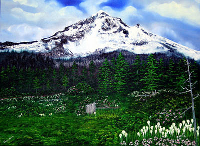 Mt Hood Painting - Mt. Hood Lolo Pass Oregon by Gwen Rose