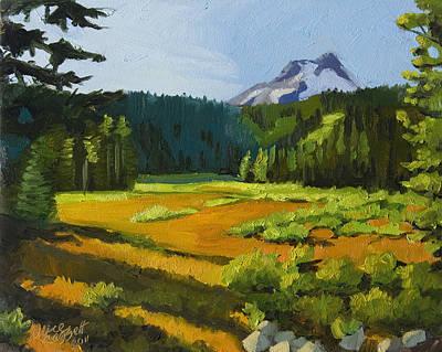 Mountain View Painting - Mt. Hood Meadow by Alice Leggett