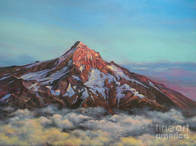 Painting - Mt Hood North Face by Jeanette French