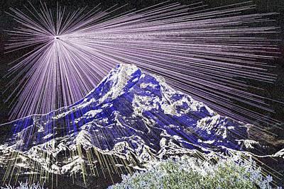 Digital Enhancement Photograph - Mt Hood Oregon by Jeff Swan