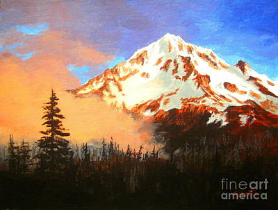 Painting - Mt.  Hood Oregon  by Shasta Eone