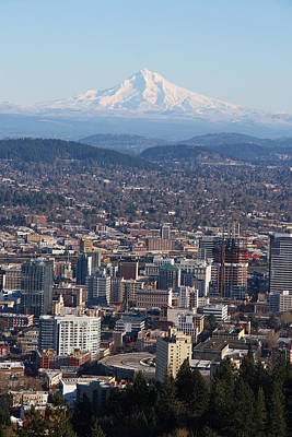Photograph - Mt. Hood Over Portland Oregon by Elizabeth Rose