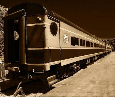 Photograph - Mt. Hood Railroad Cars by Thom Zehrfeld