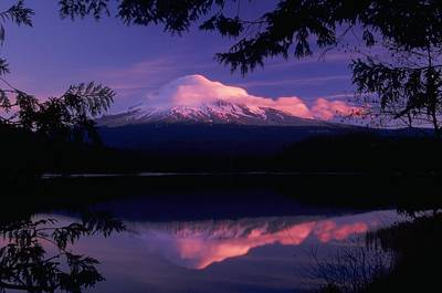 Print featuring the photograph Mt. Hood Sunrise by Ken Dietz