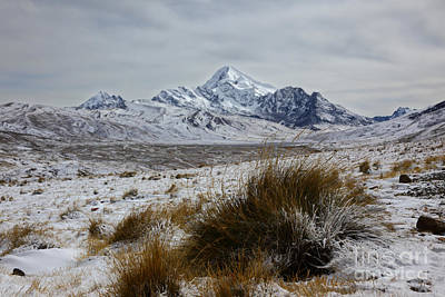 Wintry Landscape Photograph - Mt Huayna Potosi In Winter by James Brunker