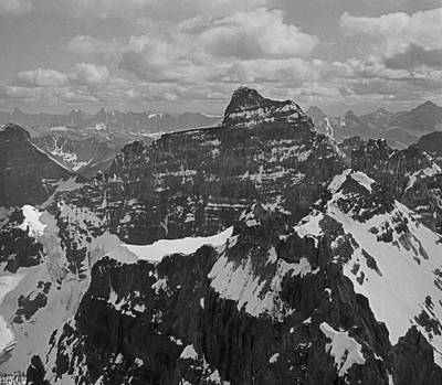 Photograph - T-703512-bw-mt. Hungabee From Summit Of Mt. Lefroy-bw by Ed  Cooper Photography