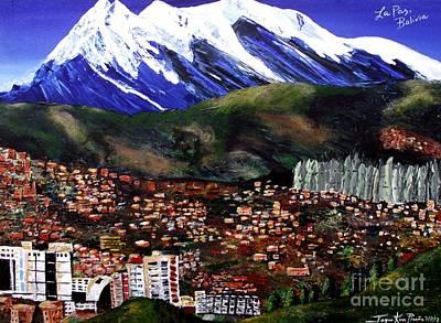 Painting - Mt Illimani La Paz Bolivia by Jayne Kerr