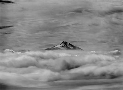 Pop Art - 105355-Mt. Jefferson above the Clouds,OR,BW by Ed  Cooper Photography