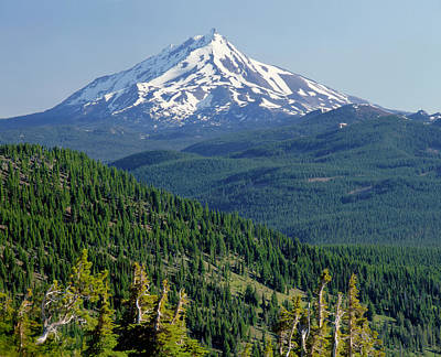 Abstract Graphics - 1M5316-Mt. Jefferson from Three Fingered Jack by Ed  Cooper Photography